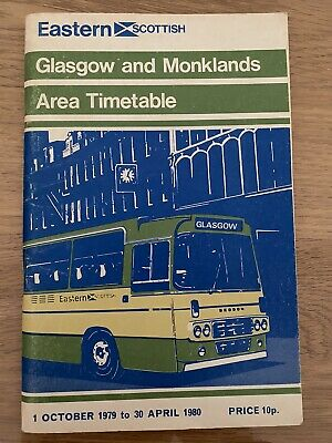 £1.99 • Buy Eastern Scottish Bus Timetable 1979/80 Glasgow And Monklands Area