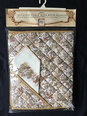 £19.99 • Buy Marks And Spencer Harvest Pattern 2 Quilted Placemats + 2 Napkins Brand New In P