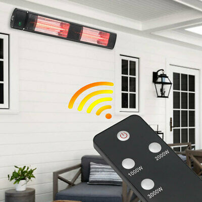 £109.95 • Buy 3000W Wall Mounted Outdoor Electric Patio Heater Halogen Warmer Remote Control