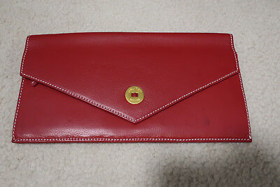 AU40 • Buy OROTON Travel Wallet RED LEATHER Gold Hardware - Never Used Heritage Classic