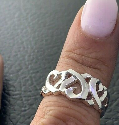 £101.64 • Buy Tiffany&Co Paloma Picasso Loving Heart Ring Sterling Silver Sz 6.5