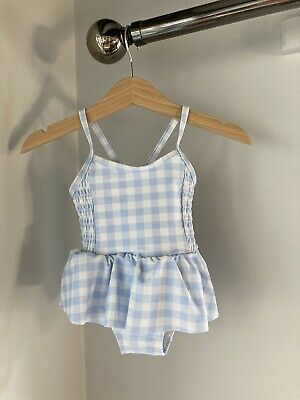 £9.99 • Buy The Little White Company Baby Blue And White Gingham Swimsuit - Age 0-3 Months