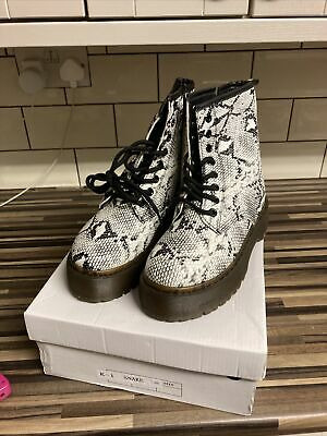 £3.99 • Buy Girls New With Box Snake Skin Platform High Ankle Boots Size 3