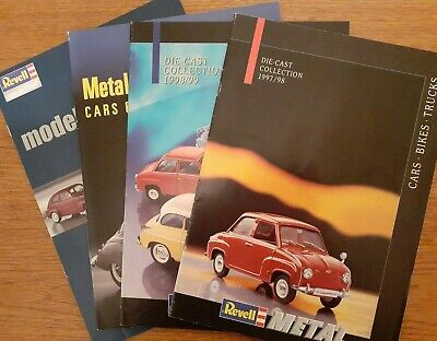 £10 • Buy 4 Revell Catalogues - 1997 To 2001 Die-cast Models.