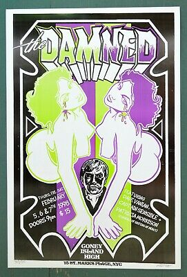 $20 • Buy The Damned Concert Poster Dave Vanian Captain Sensible Sisters Of Mercy Punk Art
