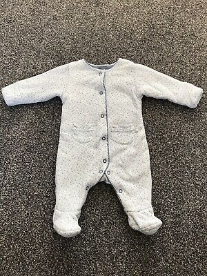 £1.50 • Buy Baby Girls Mothercare Padded All-in-one Babygrow / Sleepsuit 0-3 Months