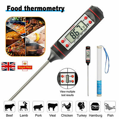 £3.99 • Buy Digital Food Thermometer Cooking Meat Kitchen Temperature BBQ Turkey Milk Meat