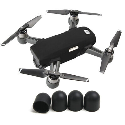 AU23.99 • Buy Soft Body Silicone Protective Case Cover Motor Cap For DJI Spark Black