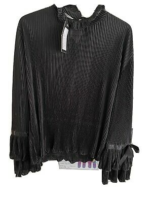 £10 • Buy Topshop Concession Ruffle Blouse Bnwt One Size