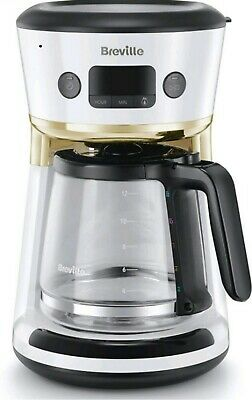 £29.99 • Buy BREVILLE Mostra Easy Measure VCF116 12 Cup Filter Coffee Machine - White Gold