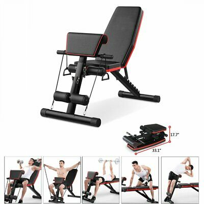 £29.99 • Buy Fnova Exercise Bench Adjustable Fitness Workout Home Gym Weightlifting Training