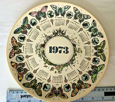 £2 • Buy Vintage Wedgwood Bountiful Butterfly 1973 Calendar Plate Third Series 10  Approx