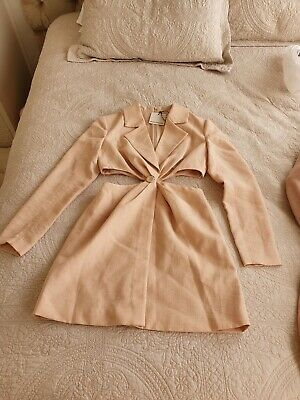 AU55 • Buy Finders Keepers Blazer Yves Dress With Side Exposers, Size 10, Fully Lined, Nude