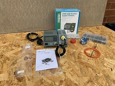 £45 • Buy Maplin 48W Digital LCD Soldering Iron Station Stand Adjustable Temperature