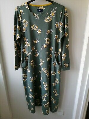 £25.95 • Buy BNWOT Joules Ladies Cassidy Floral Style Jersey Midi Dress Size 18