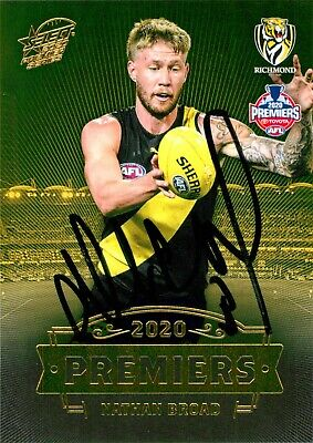 AU49.99 • Buy ✺Signed✺ 2020 RICHMOND TIGERS AFL Premiers Card NATHAN BROAD