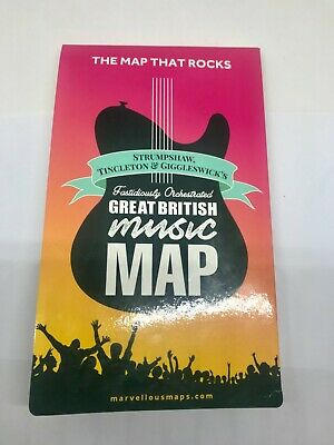 £7.50 • Buy ST&G's Great British Music Map - Excellent Condition