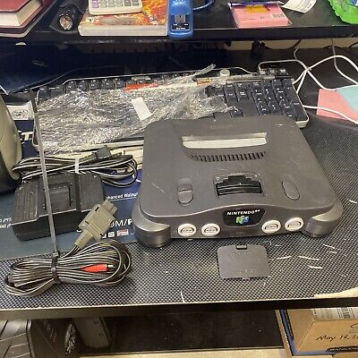 AU57.25 • Buy Nintendo 64 N64 Game Console System  No Controller Cords WORKING Play US