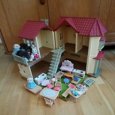 £62.49 • Buy SYLVANIAN FAMILIES Furniture Figures DECORATED BEECHWOOD HALL HOUSE FURNITURE