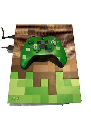 AU405 • Buy Microsoft Xbox One S Minecraft Limited Edition 1TB Green & Brown Console