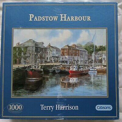 £2 • Buy Gibsons Padstow Harbour Terry Harrison Cornwall G476 1000 Jigsaw Puzzle