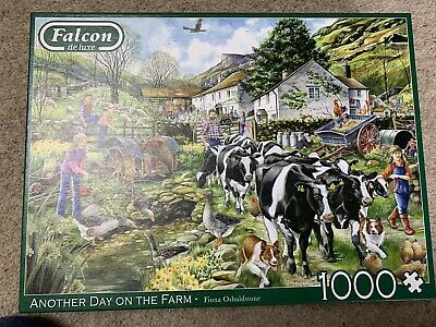 £4 • Buy Falcon Deluxe Another Day On The Farm 1000 Piece Jigsaw Puzzle