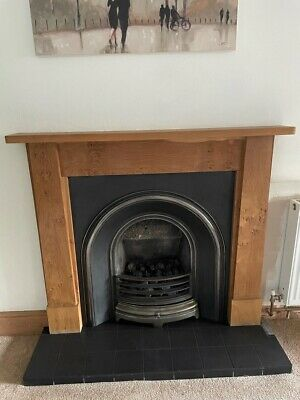 £56 • Buy Complete Fireplace - Paragon Gas Fire, Back Panel And Oak Surround & Mantel