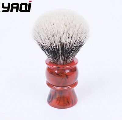 £14.99 • Buy New Yaqi 24mm Two Band Red Marble Badger Hair Shaving Brush