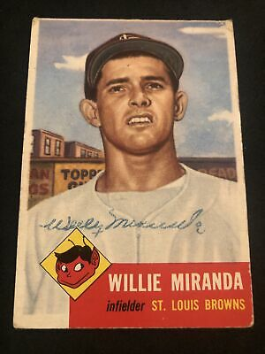 AU1.32 • Buy 1953 Topps #278 Willie Miranda SIGNED Autograph Card (d.1996) Browns NO RESERVE!