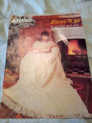 £1 • Buy Patons Book 280 Cover-ups Crochet & Knitting Patterns