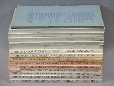 £30 • Buy 15 National Library Of Wales Journals 1940 - 1950 Aberystwyth Welsh Language