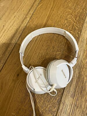 £5 • Buy Sony Stereo Headphones MDR-ZX100 White Good Condition Kids Adults