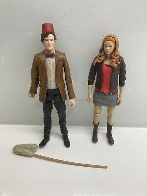 """£4.99 • Buy 11th Doctor Who With Fez Hat And Mop & Amy Pond 5"""" Figure Matt Smith Eleventh Dr"""