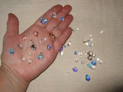 £13.50 • Buy Genuine Swarovski Crystal Beads For Jewellery Making 50 Mixed Shapes Faceted New