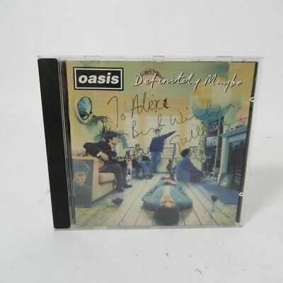 AU40.47 • Buy SIGNED Oasis Definitely Maybe CD Noel Gallagher Dedication To Alex [CRE CD 169]