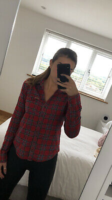 £2.99 • Buy Hollister Red Checked/plaid Shirt- Size M