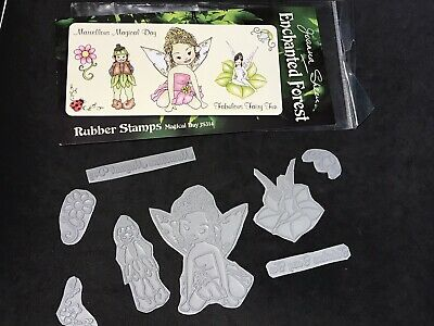 £2.99 • Buy Joanna Sheen Enchanted Forest Rubber Stamps - Fairy Fun Magical Day Phrases Etc