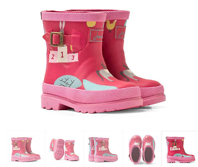 £4 • Buy Girls Joules Pink Farmyard Wellies Infant Size 6