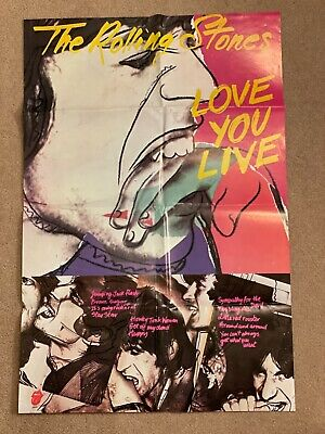 £11.28 • Buy The ROLLING STONES  - ORIGINAL - LOVE YOU LIVE.  Poster 1977.