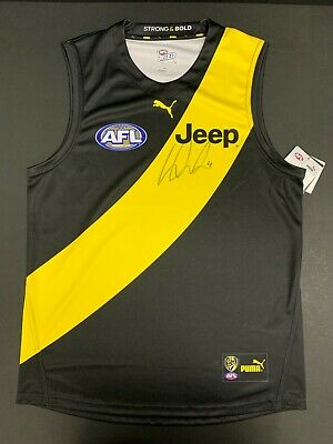 AU395 • Buy AFL RICHMOND TIGERS DUSTIN MARTIN HAND SIGNED HOME GUERNSEY DUSTY Premiers