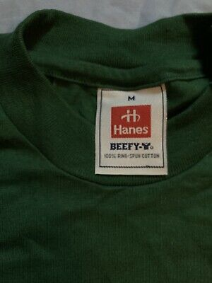 £12.99 • Buy Hanes Beefy T-shirt Forest Green Size M Vintage NOS New