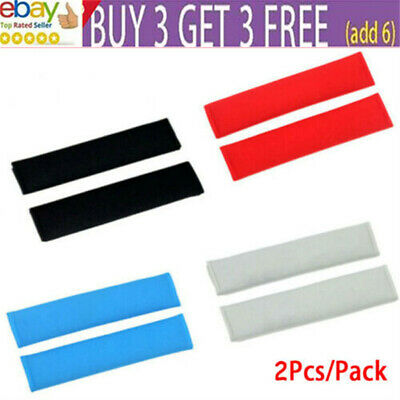 £4.99 • Buy 2 X Car Seat Belt Cover Pads Car Safety Cushion Covers Strap Pad For Adults KiQN