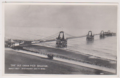 £10 • Buy Brighton - The Old Chain Pier - Sussex - Destroyed 04/12/1896 - Postcard - Rp