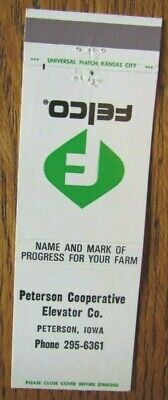 £3.04 • Buy Farm Related: Felco Co-op Elevator (peterson, Iowa) Matchbook Matchcover -f8