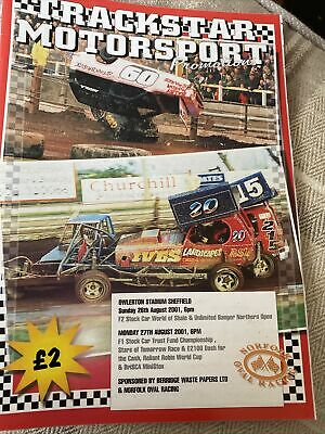 £0.89 • Buy Stock Car Racing Programme F1 Sheffield 27 August 2001
