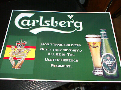 £5 • Buy The Ulster Defence Regiment Carlsberg Print,12x9 Inch. (a4)