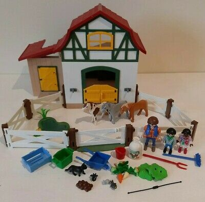 £10.05 • Buy Playmobil 5684 Or 6927 Pony Farm, Horse, Animals, House, Figures, Stables Bundle