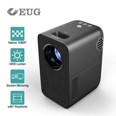 £256.99 • Buy 4200lms WiFi Projector LED Portable Home Cinema Native 1080P Airplay For IPhone