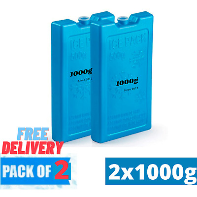 £3.99 • Buy Pack Of 4 Freezer Blocks For Cool Bags Ice Boxes New Blue Picnics Lunch Travel