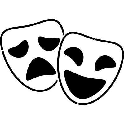 £4.99 • Buy 'Comedy & Tragedy Masks' Wall Stencils / Templates (WS017139)